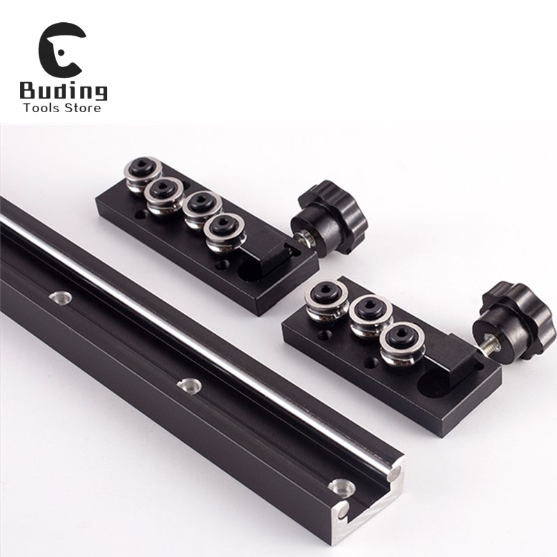 Woodworking Slide Mechanical Track Precision Built-in Dual-axis Linear Slide Rail Aluminum Profile Linear Guide Slider Slide SGR