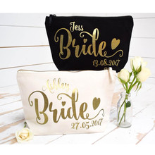 Personalised gold foil Wedding Cosmetic mother of bride Make