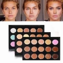 15 colores cara corrector tipo camuflaje CREMA CONTORNO paleta de maquillaje profesional Fundación paleta corrector