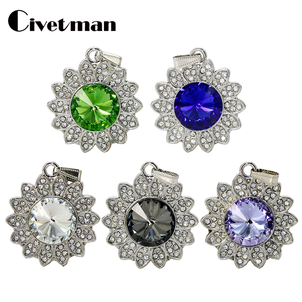 New Metal Crystal Pendrive 4GB 8GB 16GB 32GB 64GB 128GB Ocean Star Pendant USB Flash Drive USB 2.0 Memory Flash Stick Pendrive