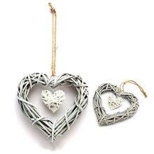 Шикарное сердце венок свадьба день рождения подвески для рождественской вечеринки ручной работы украшение настенный