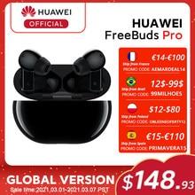 En Stock Version mondiale HUAWEI freebud Pro smarlarme téléphone Qi Charge sans fil et fonction pour Mate 40 Pro P30 Pro