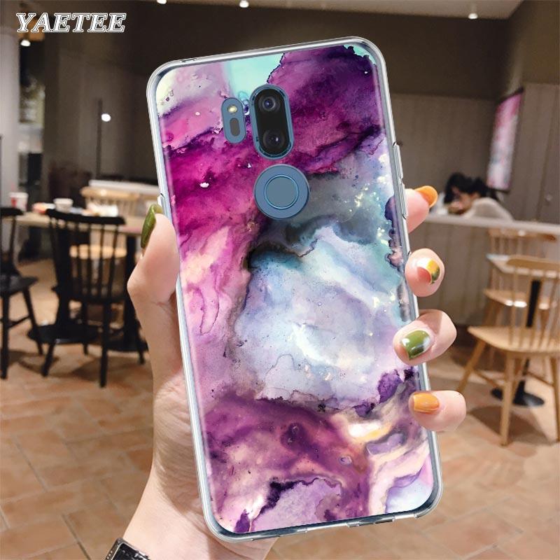Art Geometry Marble Phone Case For LG G6 G7 G8 Thin Q51 Q60 Q61 Q70 K40 K40s K41s K50s K51s K61 Silicone Cover