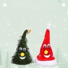 Cap Christmas-Hats Children Adult for Swing-Tree-Ornaments-Cap Singing Girls Boys
