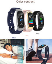 Fashion QW16 Smart Watch Pedometer Blood Pressure Oxygen Heart Rate Monitor Fitness Sleep Monitor Waterproof Sport Bracelet Band(China)