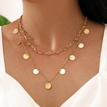Modyle Double Layer Chain Women Accessories Stainless Steel Necklace For Women Pendant Necklace Vintage Necklace Bohemian Chain