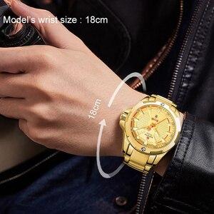 Image 4 - NAVIFORCE Top Luxury Gold Watch Sport Watches For Men Military Quartz Wristwatch Casual Waterproof Clock Male Relogios Masculino