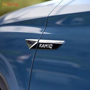 Для Skoda KAMIQ 2019 2020 Оригинал крыло двери боковое крыло эмблема стикер отделка Хром Стайлинг автомобиля аксессуары