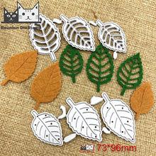 6 шт металлические Вырубные штампы в виде листьев