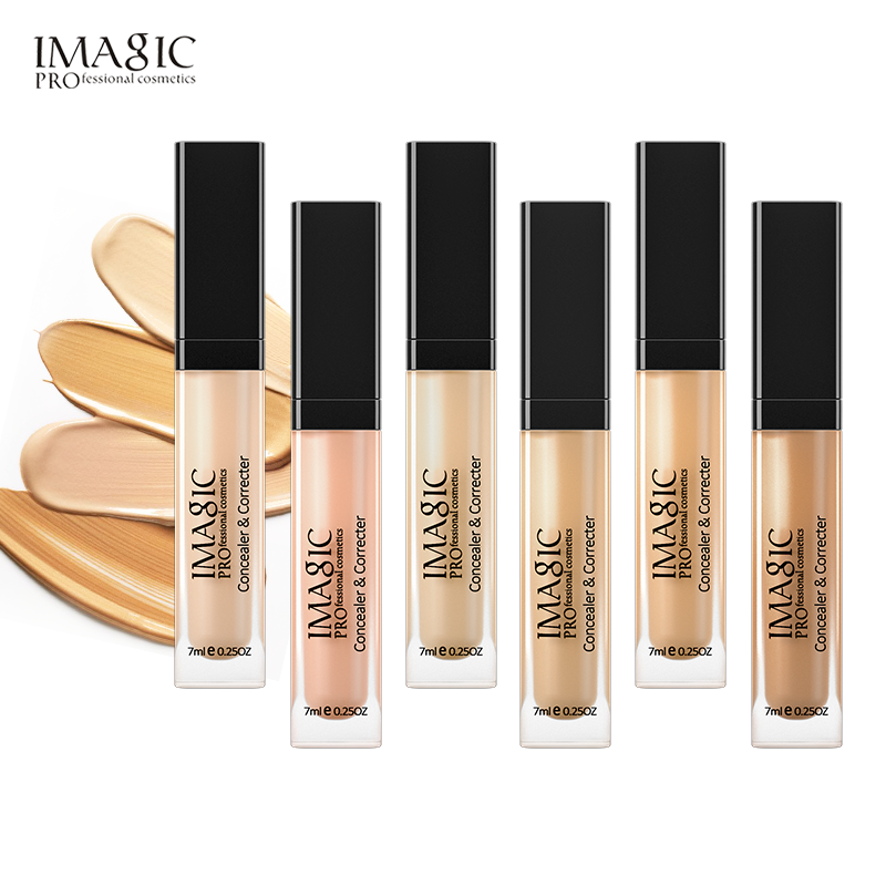 IMAGIC Eye Concealer & Base 6 Colors Full Coverage Suit For All Color Skin Face / Eye Makeup Liquid Concealer