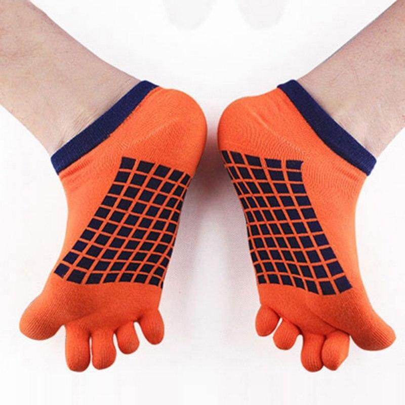 Mens Toe Socks Cotton Simple Five Fingers Socks Casual Socks With Toes Ankle Socks 5 Colors