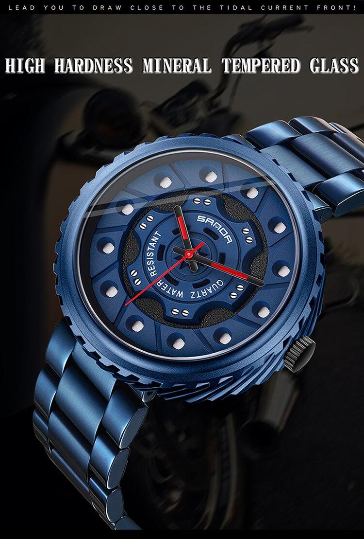 quartzo para relógio de pulso masculino casual