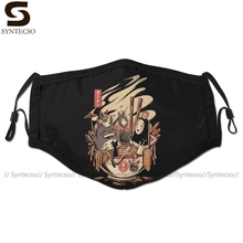 Face-Mask Anime Mouth Adult with Men Polyester for Cool 2-FILTERS Ramen Pool Party