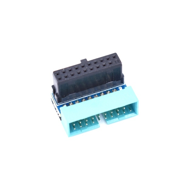 USB 3.0 20pin Male Up/Down Angled 90 Degree to Female Extension Adapter for Motherboard Mainboard
