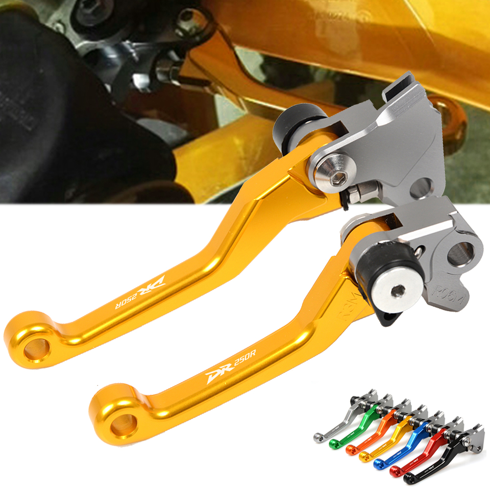 CNC Motorbikes Pivot Brake Clutch Levers For Suzuki DR250R DR250 R <font><b>DR</b></font> 250R <font><b>DR</b></font> <font><b>250</b></font> R 1996-2000 Accessories Dirt Bike Pivot Levers image