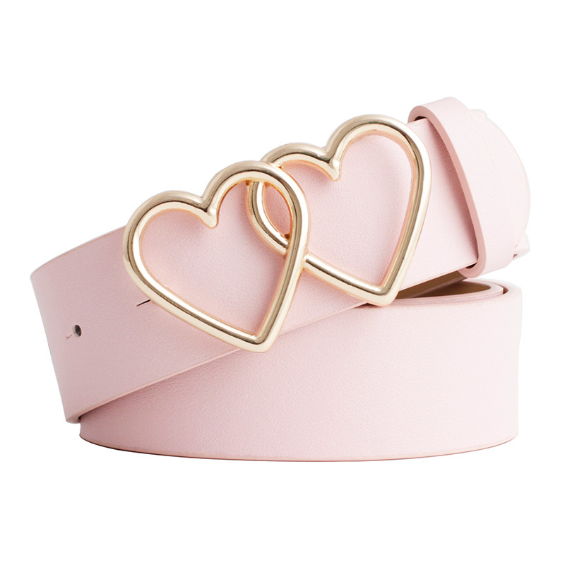 NO.ONEPAUL New With Adjustable Ladies Luxury Brand Cute Heart-shaped Thin Belt High Quality Punk Fashion Belts Sweetheart Buckle