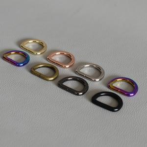 50 unids/lote anillos D planos de aleación anillos D de 3/4 pulgadas (20mm) correas D hebilla bolsa Durable conectar hebilla plana Diy perro Collar Accesorios