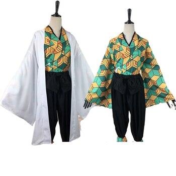 Nueva llegada Anime demonio asesino Cosplay traje Unisex traje de Sabito de moda uniformes tipo Kimono Anime Cosplay traje