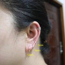 925 пробы, серебряные Простые серьги-кольца для женщин, маленькие мини серьги-кольца, круглые серьги-кольца