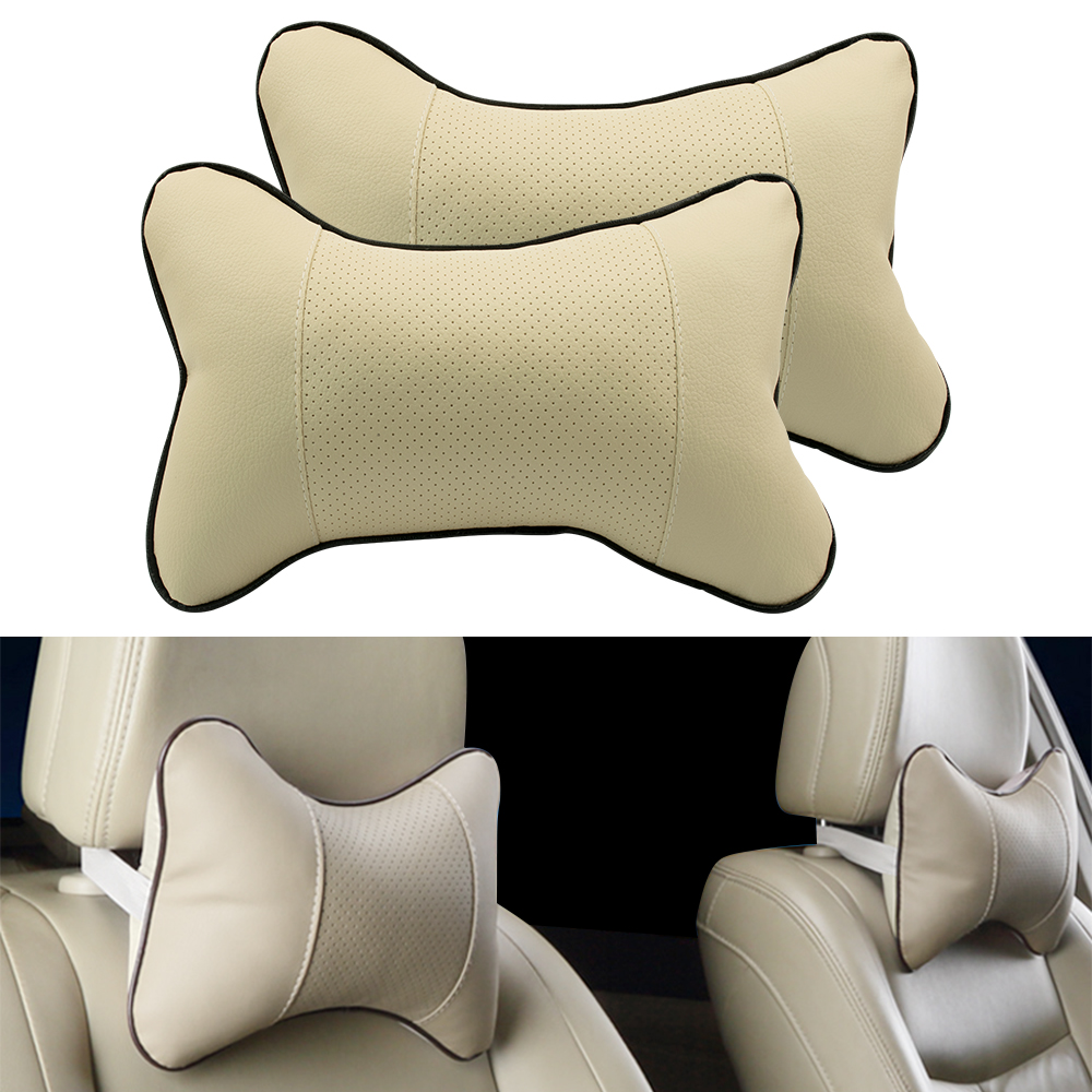 1 Pc Universal PVC Leather Breathable Travel Head Neck Rest Headrest Support Cushion Neck Pillow Car Seat Cover Health Care