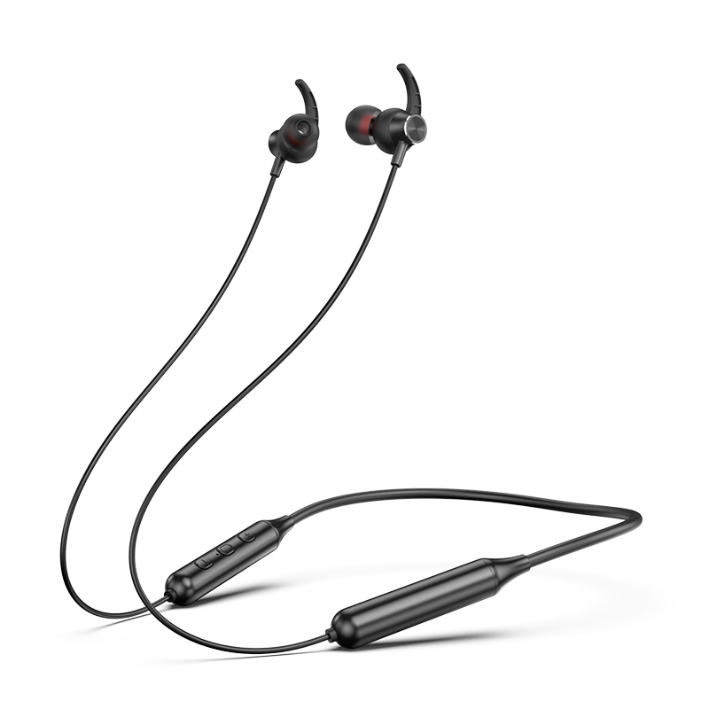 Swalle Bluetooth 5.0 Wireless Sports earphone Stereo Subwoofer Hanging Neck Hanging Metal Magnetic Bluetooth Headphone 1