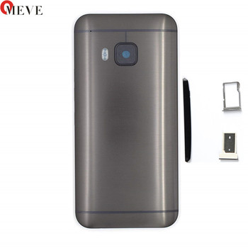 4 in 1 Original Metal Rear Housing Door For HTC One M9 Back Battery Cover Case with Top Cover +Sim Tray +SD TF Tray+Side buttons