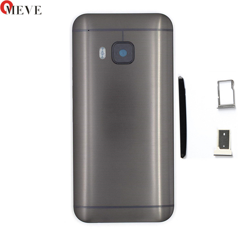 4 in 1 Original Metal Rear Housing Door For <font><b>HTC</b></font> <font><b>One</b></font> <font><b>M9</b></font> Back <font><b>Battery</b></font> Cover <font><b>Case</b></font> with Top Cover +Sim Tray +SD TF Tray+Side buttons image
