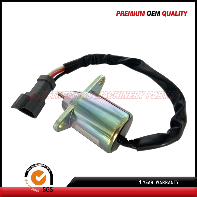 Stop Shut Off Solenoid TK 41-6383 TK 41-4306 For Yanmar Engine Replaces Thermo King 12V 2