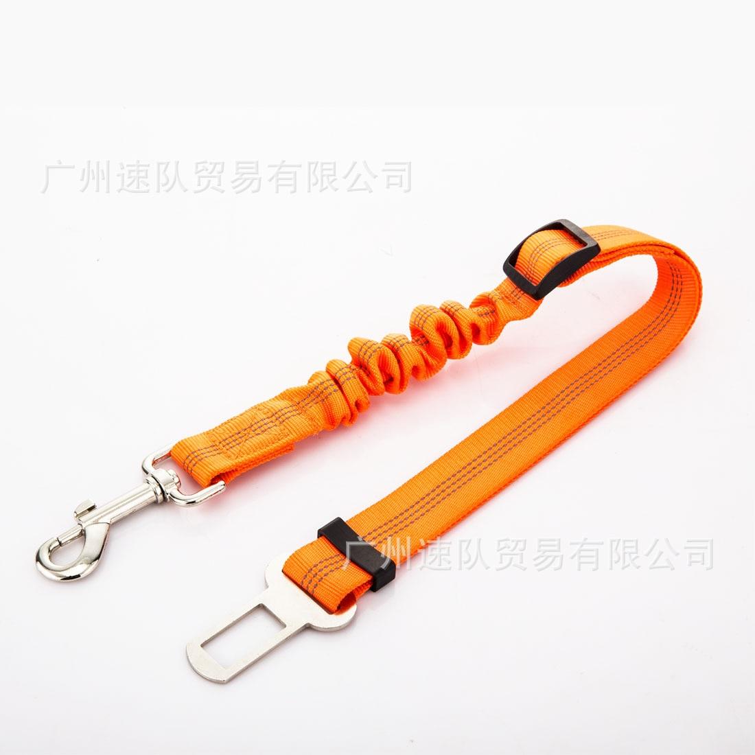 Pet Seat Belt Nylon Reflective Yarn Elasticity Buffer Regulation Car Mounted Safe Rope Dog Hand Holding Rope Car
