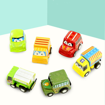 Pull Back Car 6 Pack Mini Plastic Vehicle Set    Toys for Boys Kids Child Party Favors Toy Play pull back car 36 pack set of toy cars party favor mini toy cars set for boys kids child birthday play plastic vehicle set