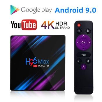 Smart TV Box H96 MAX RK3318 Android 9.0 9 4K Youtube Media player 4GB 32GB 64GB H96MAX TVBOX Android TV Set top box 2GB16GB