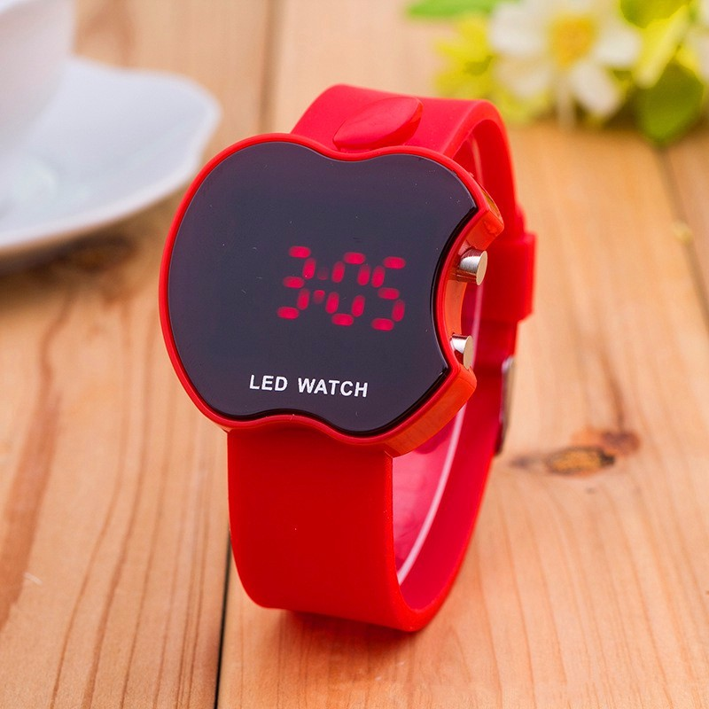 Reloj New Quality Silicone Sports Apple Kids Watches Fashion LED Multi-function Digital Electronic Watch Women Watches Relogio