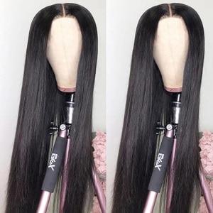 Aircabin 30 дюймовые кружевные парики для женщин, бразильские прямые человеческие волосы без клея, средняя часть, 150% плотность, Натуральные Цвет...