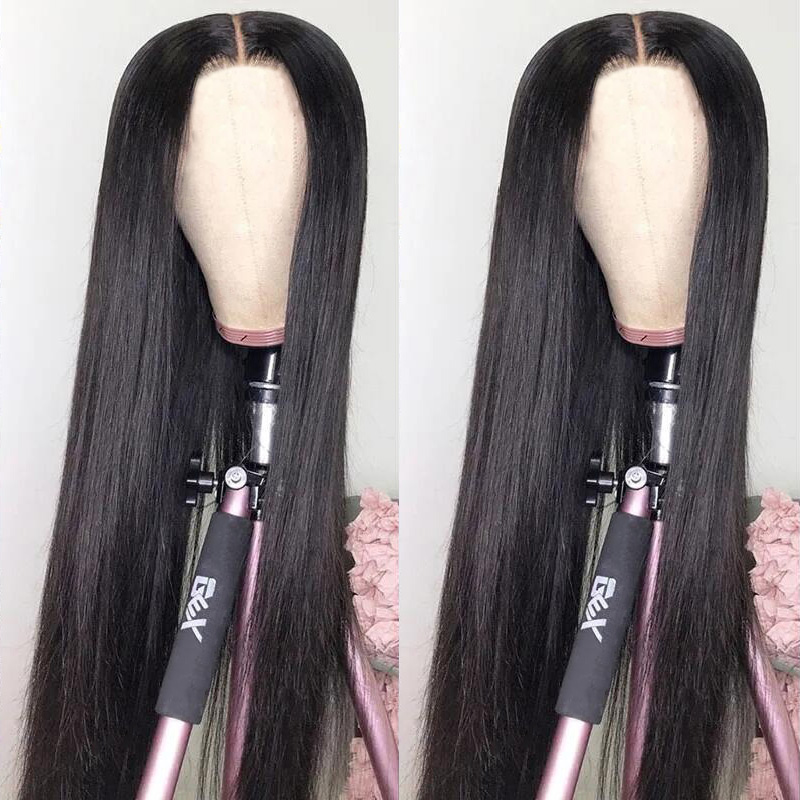 Parrucche diritte per capelli umani da 30 pollici 4x1 parrucche per donne aircab brasiliano Glueless parte centrale 150% densità parrucche di colore naturale