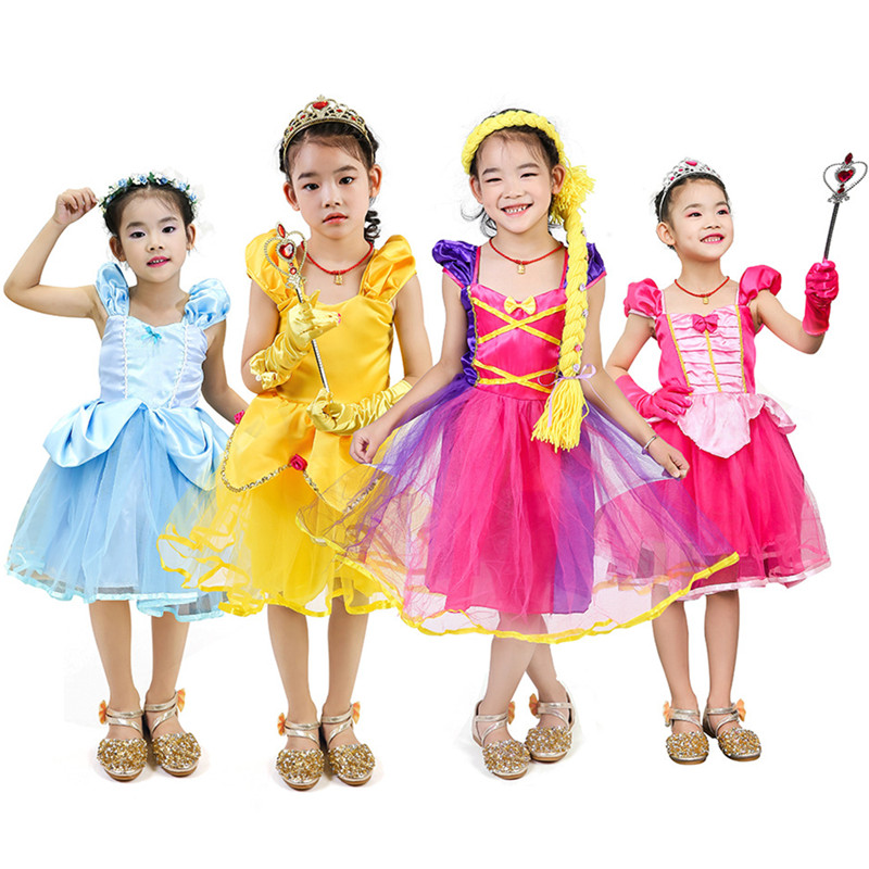 Halloween Dress Kids Toddler Girls,MONsin Kids Toddler Little Girls Lace Orange Dress Fancy Halloween Party Dress