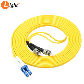 10PCS 3M Fiber Optic Single-Mode Duplex Patch Cable Jumper Cord ST to LC Yellow Single Mode Optic for Network