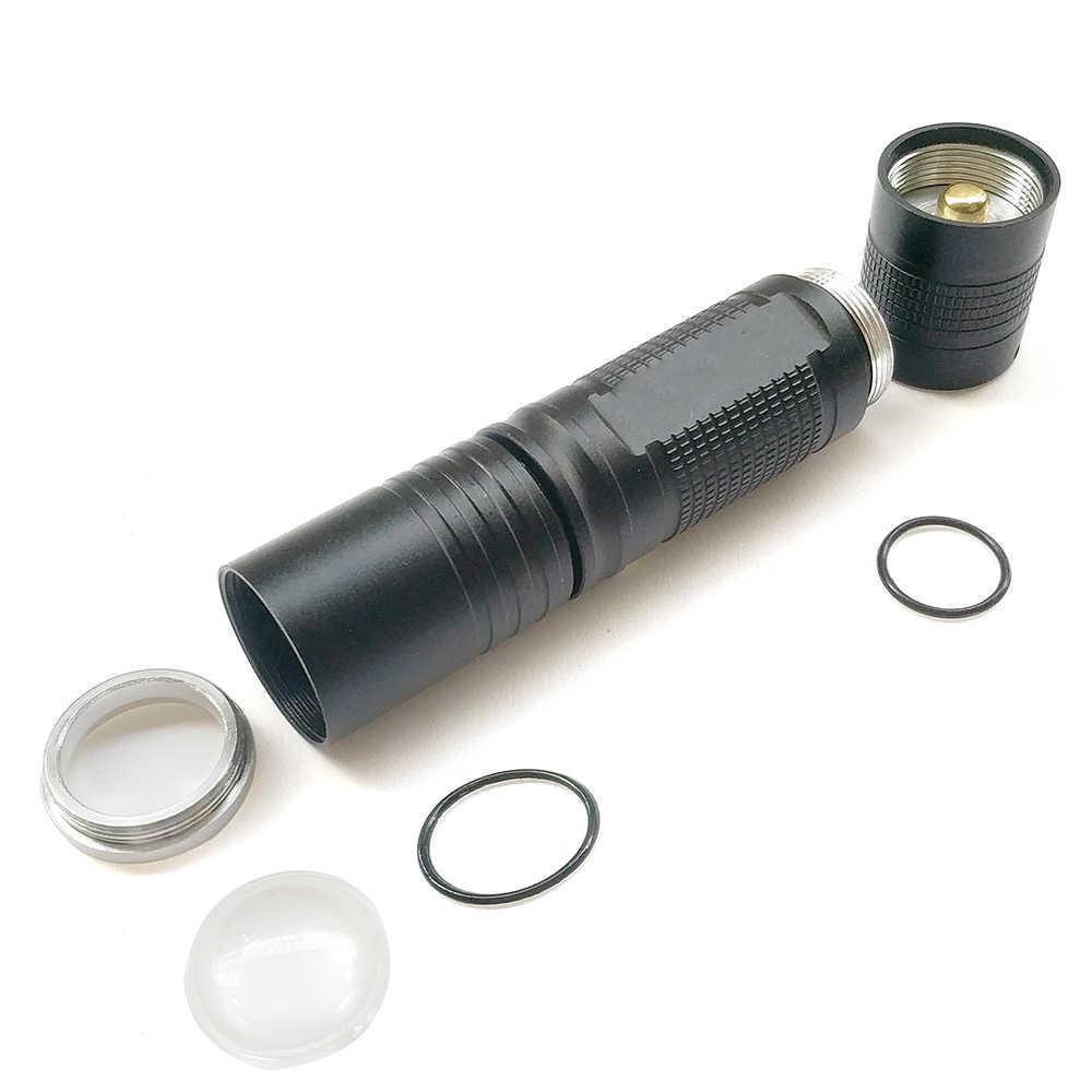 L2 LED mini linterna L2 5000LM aluminio impermeable Zoomable linterna 5 modos uso 18650 batería