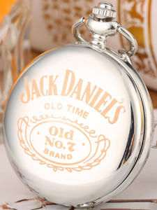 Steampunk Watch Pendant Laser Engraved-Design Jack Daniel's Silver Retro Women Gifts