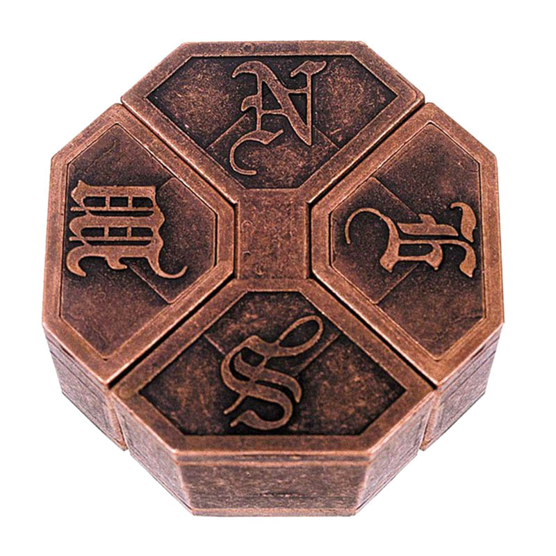 High Quality Vintage Metal Puzzle Box Lock Puzzle Toy IQ EQ Mind Brain Teaser Kid Gift