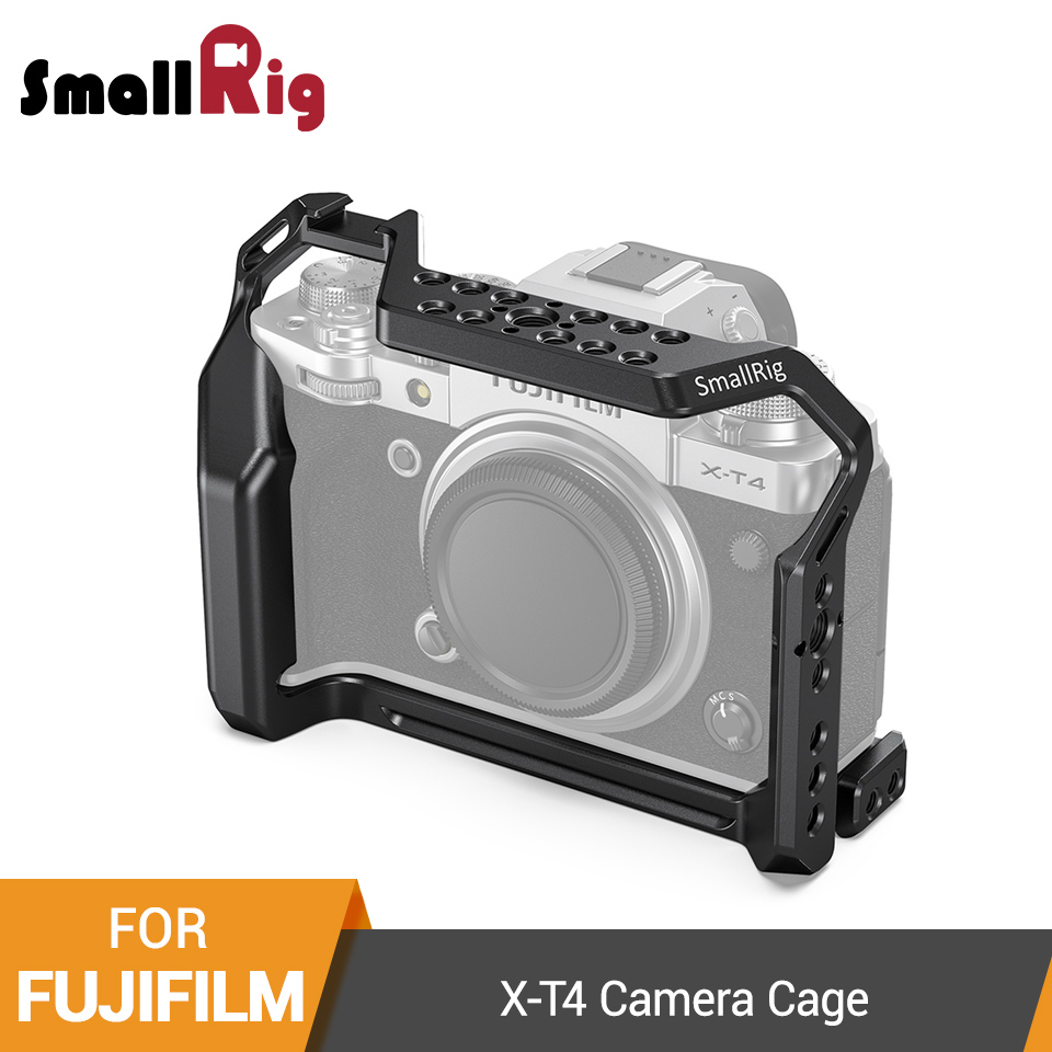 SmallRig X-T4 Camera Cage For FUJIFILM X-T4 Aluminum Alloy Cage With Cold Shoe Mount/Nato Rail Camera Video Accessories -2808
