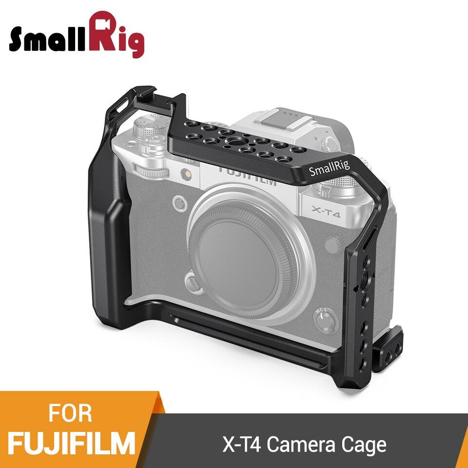 SmallRig X-T4 Camera Cage For FUJIFILM X-T4 Aluminum Alloy Cage With Cold Shoe Mount/Nato Rail Camera Video Accessories -2808