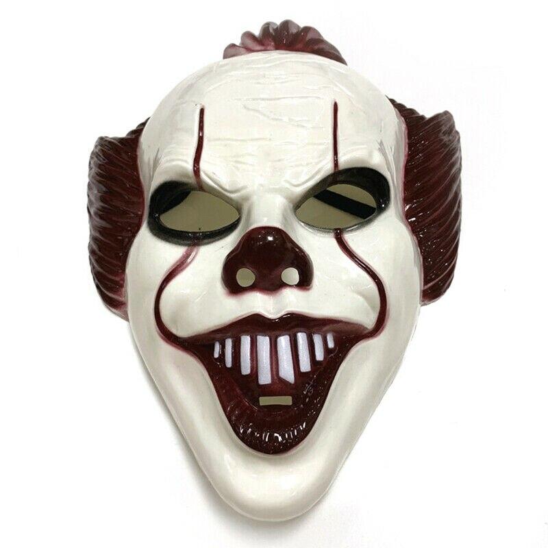It Pennywise Clown Mask Movie Joker Fleck Mask Adult Halloween Cosplay Costume