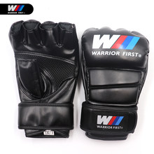 Half Finger Boxing Gloves PU Leather MMA Fighting Kick Boxing Gloves Karate Muay Thai Training MMA Gloves S/L Size