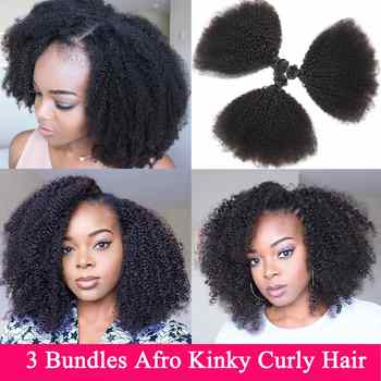 Mongolian Afro Kinky Curly Hair Bundles 3 Bundles Deal 8-22 inches Human Hair Bundles Non Remy Beauty Lueen Hair Extensions - DISCOUNT ITEM  42% OFF All Category