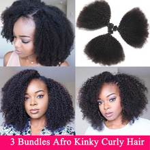 Mongolian Afro Kinky Curly Hair Bundles 3 Bundles Deal 8-22 inches Human Hair Bu