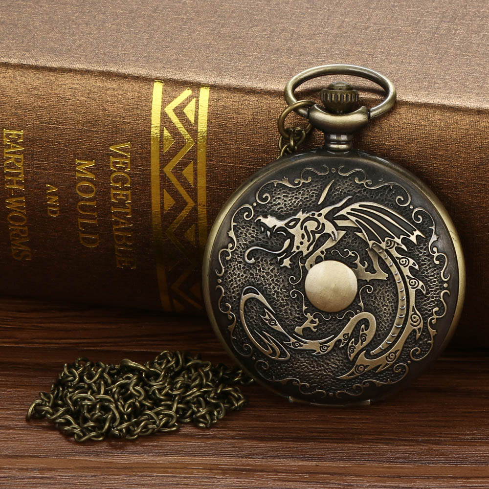 Pocket Watch Irregular Memorial Vintage Chain Retro The Greatest Pocket Watch Necklace For Grandpa Dad Gifts карманные часы