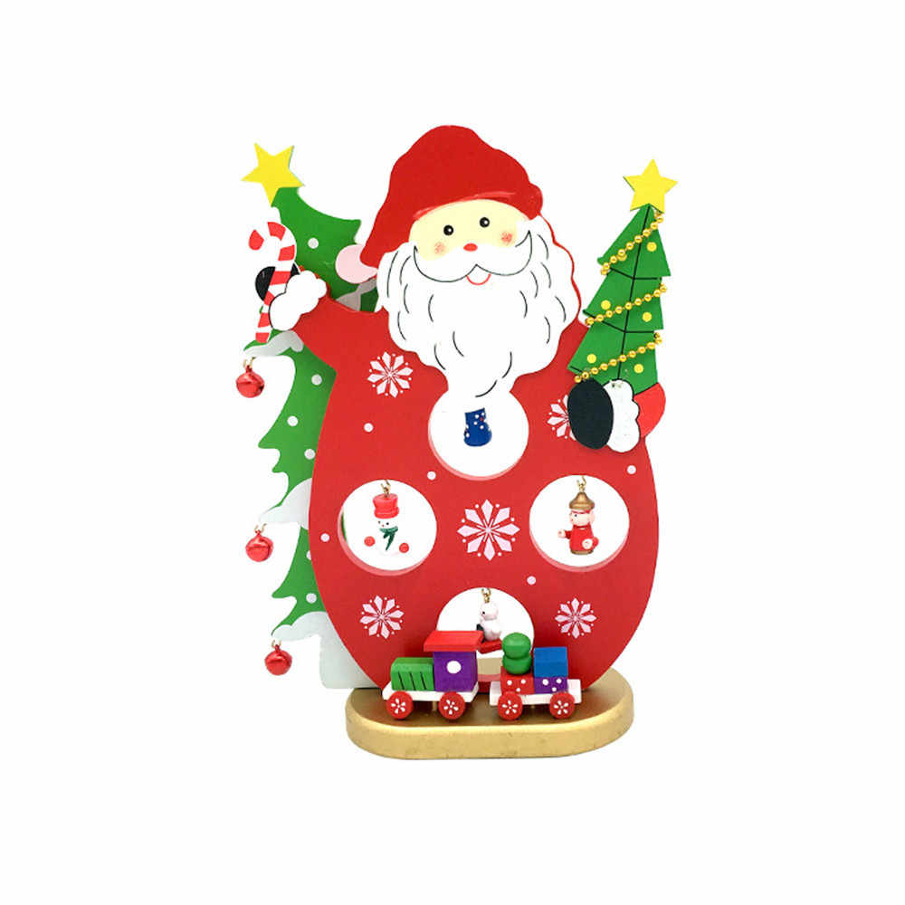Christmas Wooden Tree Mini Christmas Tree Ornaments Desktop for Kids Home decorate garden home hotel office Decorations 19AUG27