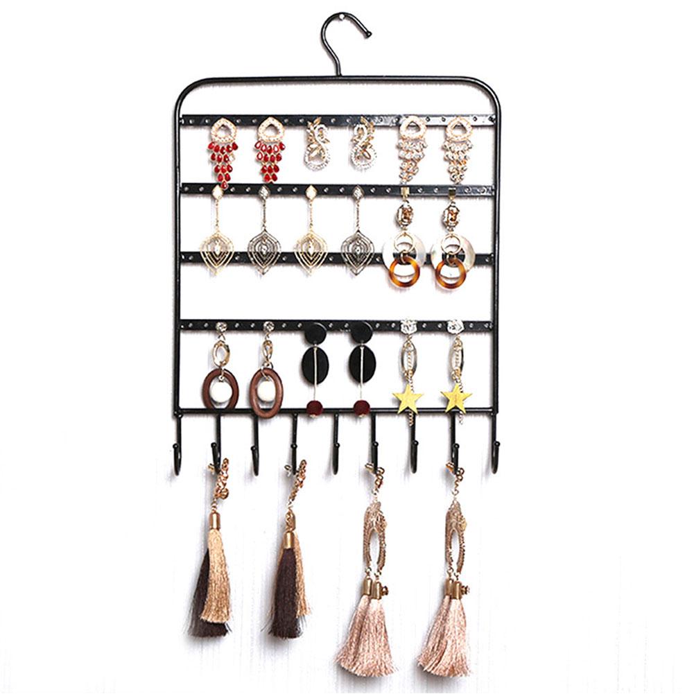2019 Showcase Metal Earring Holder Storage Wall Mount Home Shelf Rack Jewelry Display Organizer Hooks Bracelet Stand Necklace Hanger From Homejewelry
