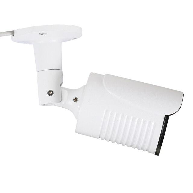 Caméra de vidéosurveillance extérieure IP POE H.265 Onvif 8MP 4K, en métal blanc, Vision nocturne IR, 4MP 2