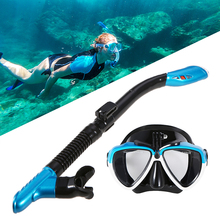 Professional Diving Mask Scuba Snorkel Swimming Goggles Dry Tube Set Men Women Anti-fog for Camera